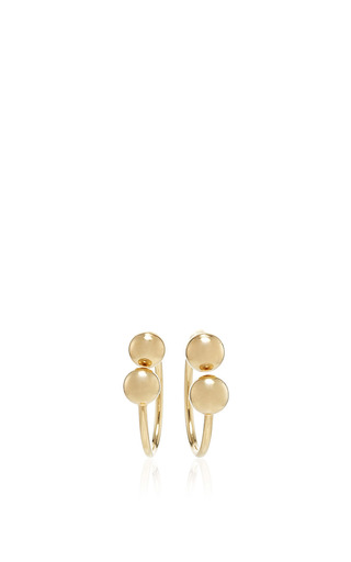 Medium j w anderson gold double ball earrings