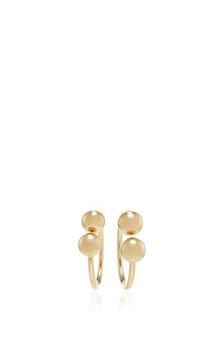 Medium j w anderson gold double ball earrings