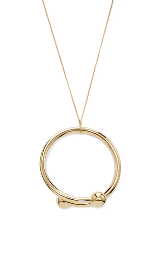 Medium j w anderson gold double ball pendant
