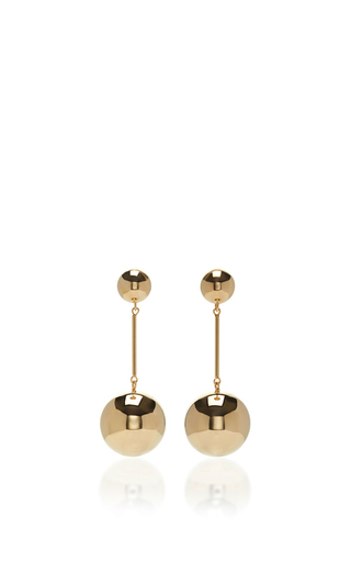 Medium j w anderson gold sphere drop earrings