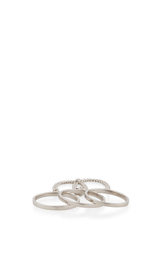 Three Finger Ring by EDDIE BORGO Now Available on Moda Operandi