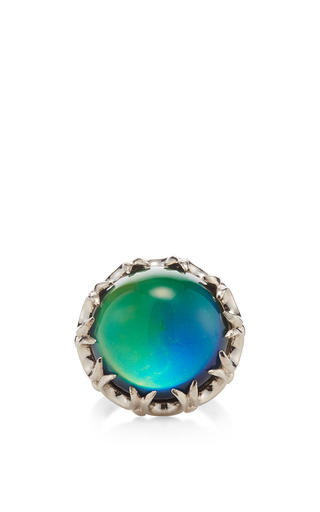 Medium eddie borgo silver dahlia mood ring