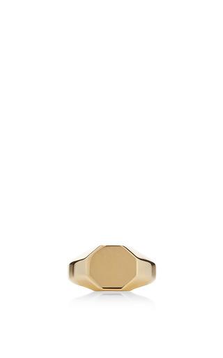 Medium eddie borgo gold octagon signet ring