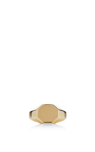 Medium eddie borgo gold octagon signet ring
