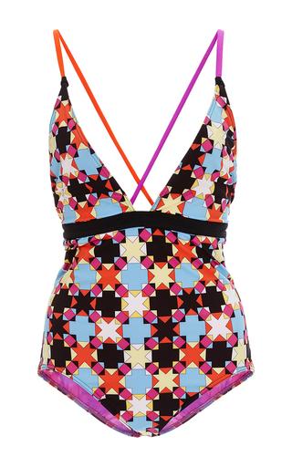 Medium emilio pucci print geometric print one piece swimsuit
