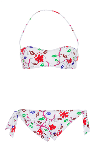 Medium emilio pucci floral bandeau bikini set