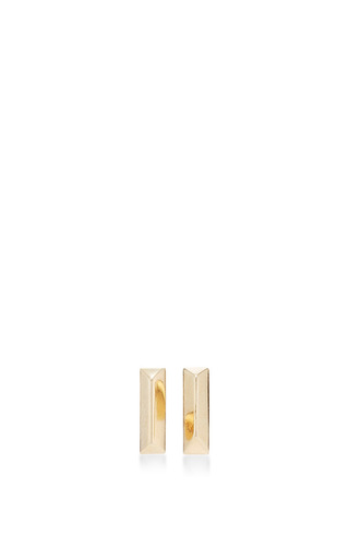 Medium eddie borgo gold peaked stud