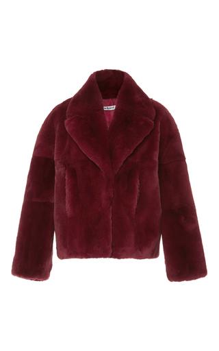Medium cacharel  2 burgundy fur coat