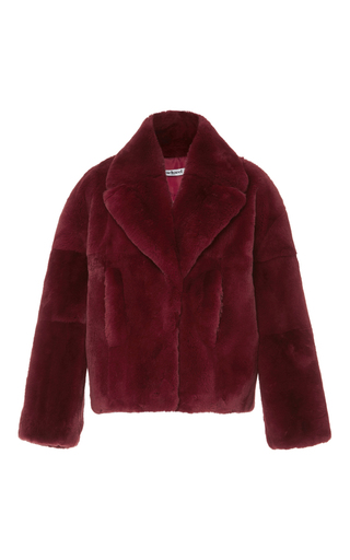 Medium cacharel  2 burgundy fur coat