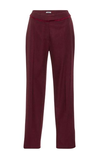 Medium cacharel  2 burgundy wool cropped trousers