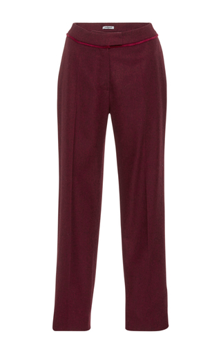 Medium cacharel  2 burgundy wool cropped trousers