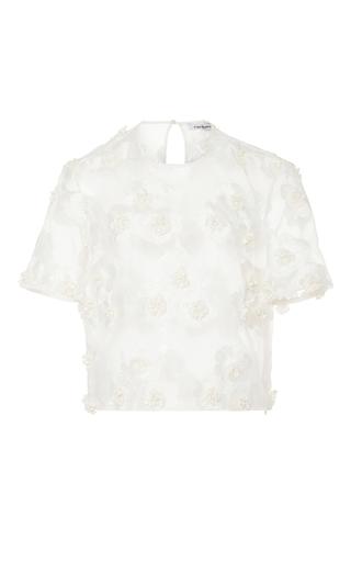 Medium cacharel  2 white sheer floral blouse 2
