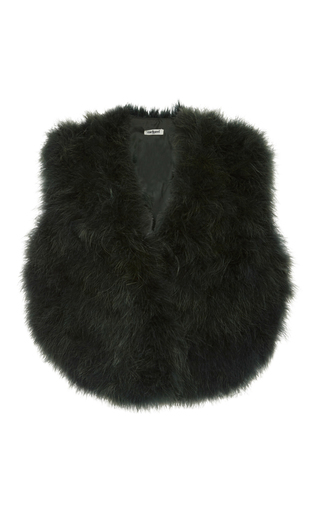 Medium cacharel  2 green marabou vest