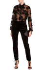 Sheer Floral Blouse by CACHAREL Now Available on Moda Operandi