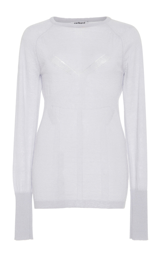 Laser Cut Mohair Sweater  by CACHAREL Now Available on Moda Operandi