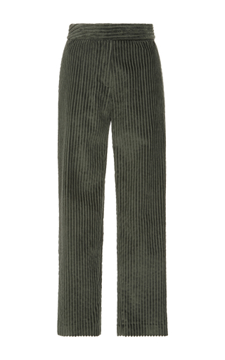 Medium cacharel  2 green cropped corduroy trousers