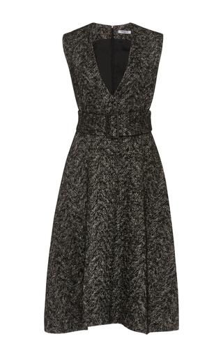 Medium cacharel  2 black tweed v neck dress