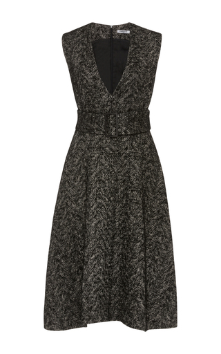 Medium cacharel  2 black tweed v neck dress