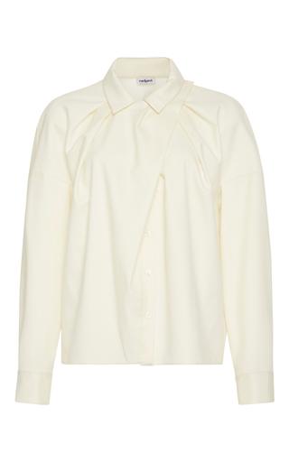 Medium cacharel  2 white ruched long sleeve blouse