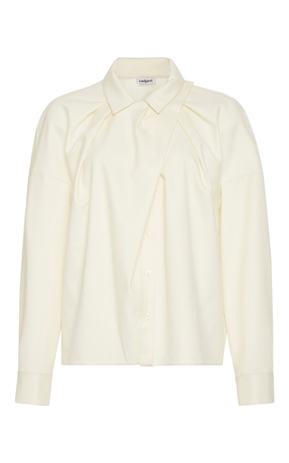 Medium cacharel  2 white ruched long sleeve blouse