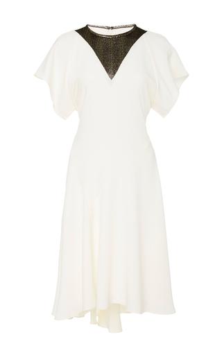 Medium ellery ivory audrey lurex paneled mini dress