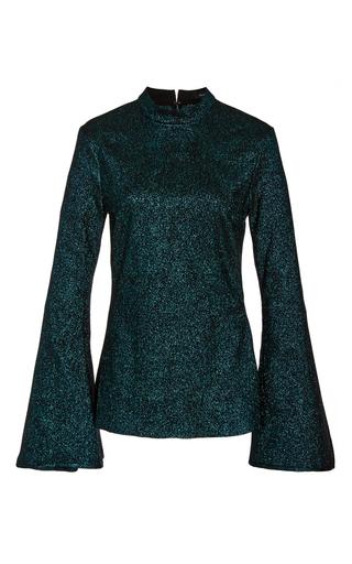 Medium ellery green atlantic long sleeve blouse