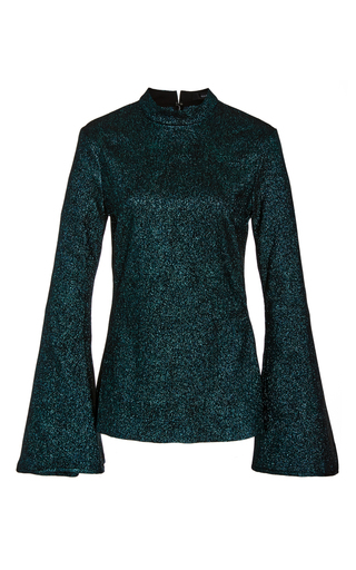 Medium ellery green atlantic long sleeve blouse