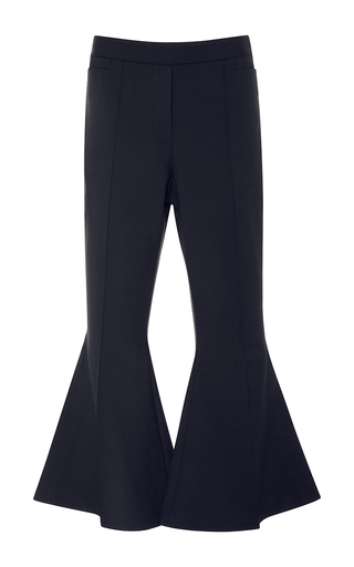 Medium ellery navy frederico cropped flare trousers