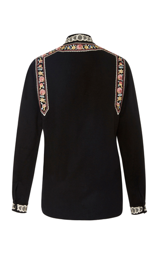 Rachel Floral Embroidered Shirt by VILSHENKO Now Available on Moda Operandi
