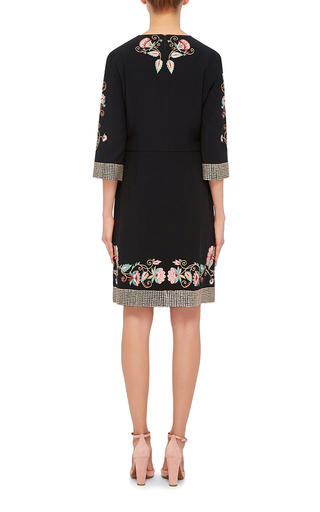 Alessia Jacobean Embroidered Dress by VILSHENKO Now Available on Moda Operandi