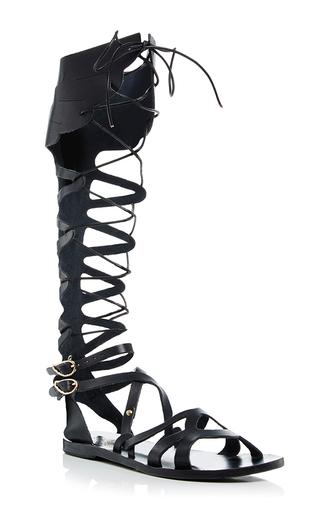 Medium ancient greek sandals black odyssey sandal