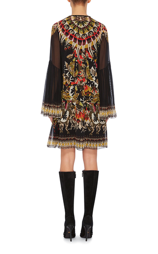 Silk Printed Mini Dress by ROBERTO CAVALLI Now Available on Moda Operandi