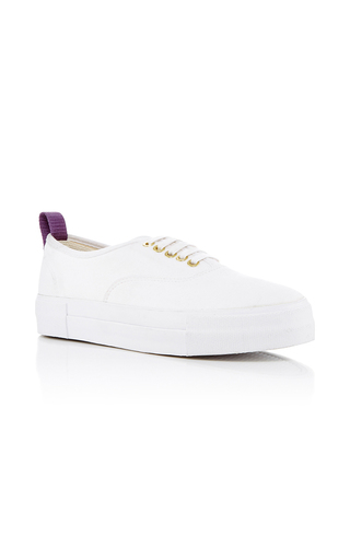 Medium eytys white mother canvas trainers  2