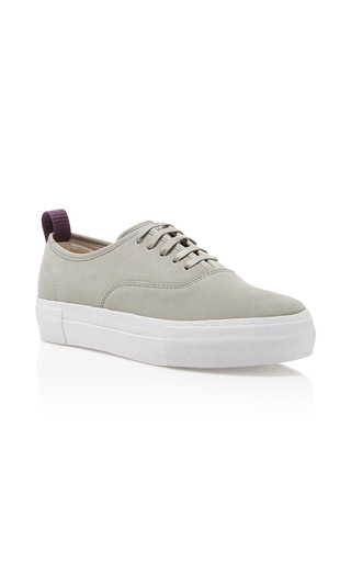Medium eytys light grey mother suede trainers