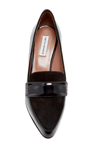 Black Patent Margot Pump by TABITHA SIMMONS Now Available on Moda Operandi