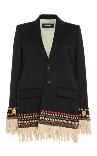 Medium dsquared2 black sachiko embroidered cigarette jacket