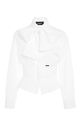 Medium dsquared2 white kaori poplin shirt