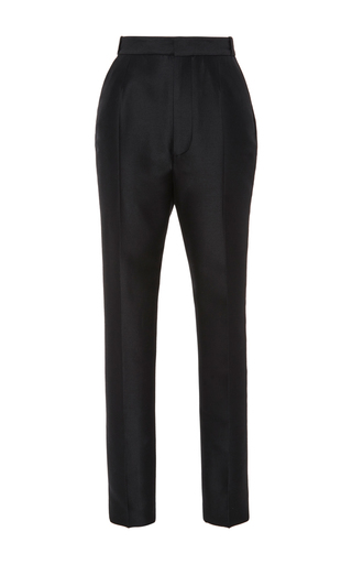 Medium dsquared2 black shioko high waist wool cigarette pant