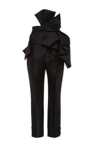 Medium dsquared2 black sculptured wool silk pant