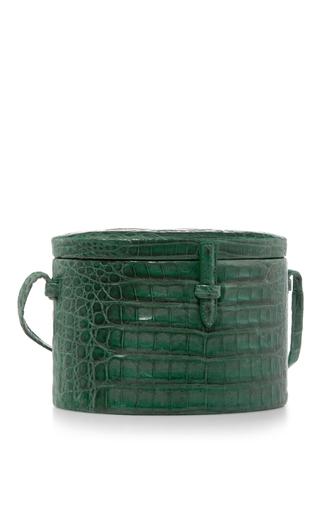 Crocodile Round Trunk Bag by HUNTING SEASON Now Available on Moda Operandi