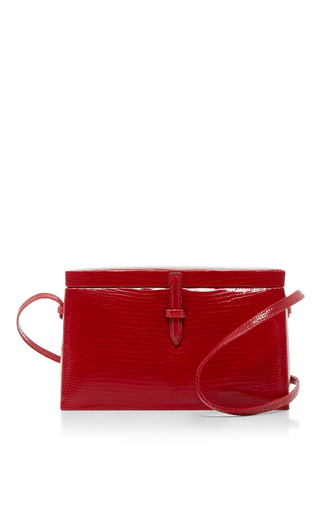 Lizard Small Square Trunk  by HUNTING SEASON Now Available on Moda Operandi