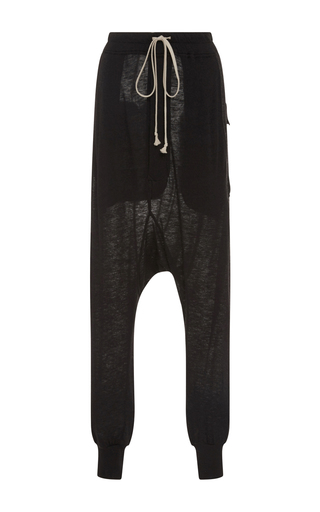 Medium rick owens lilies black drawstring lounge pants