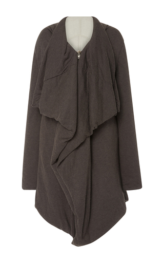 Medium rick owens lilies dark grey shawl collar jacket