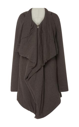 Medium rick owens lilies dark grey shawl collar jacket