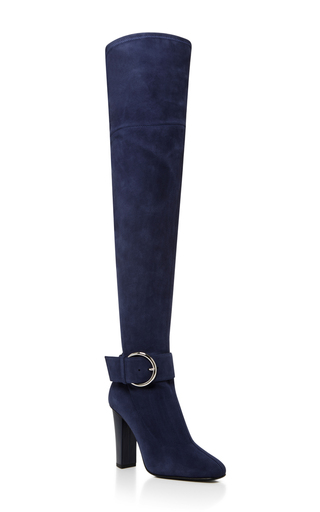Medium giuseppe zanotti navy alabama boot