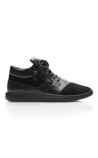 Medium giuseppe zanotti black mid rise sneaker