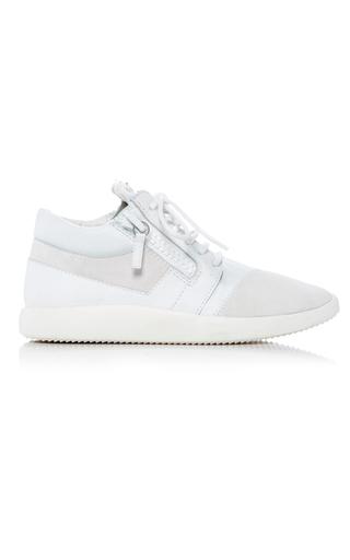 Medium giuseppe zanotti white mid rise sneaker 2