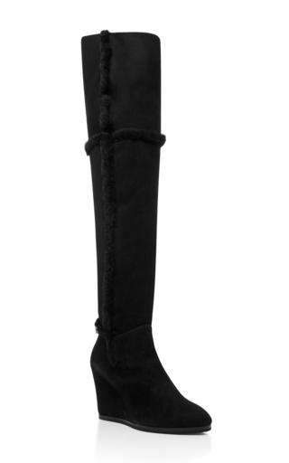 Medium giuseppe zanotti black balet knee high boot