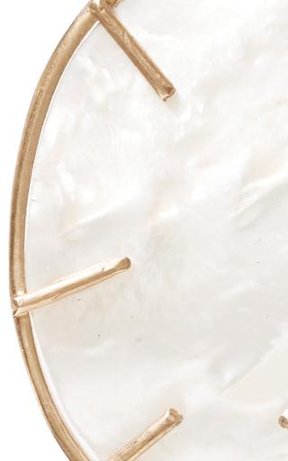Silver Dollar Mother Of Pearl Earrings by ANNETTE FERDINANDSEN Now Available on Moda Operandi