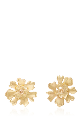 Medium annette ferdinandsen gold gold lichen stud earrings
